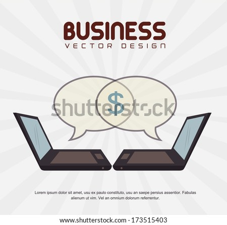 business icon over  gray background vector illustration - stock vector