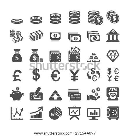 business icon set, vector eps10. - stock vector