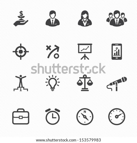 Business Icons and Finance Icons with White Background - stock vector