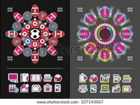 Business icons and infographics - stock vector