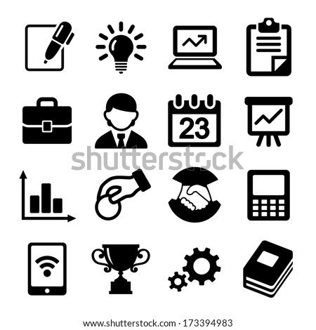 Business icons, management and human resources. - stock vector