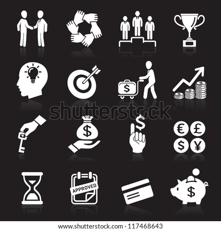Business icons, management and human resources set6. vector eps 10. More icons in my portfolio. - stock vector