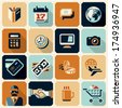 Business icons. Money icons. Finance. Flat style vector icons set.  - stock vector