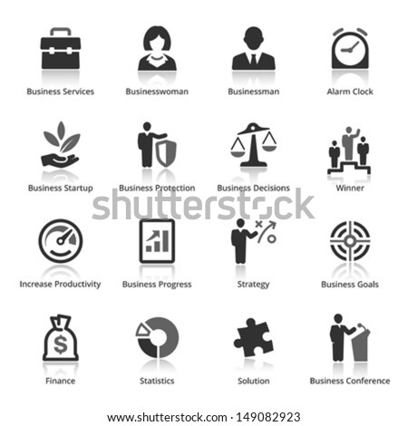 Business Icons - Set 1  - stock vector