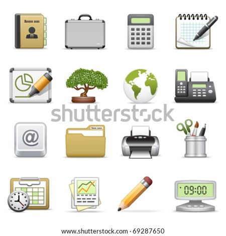 Business icons, set 2. - stock vector