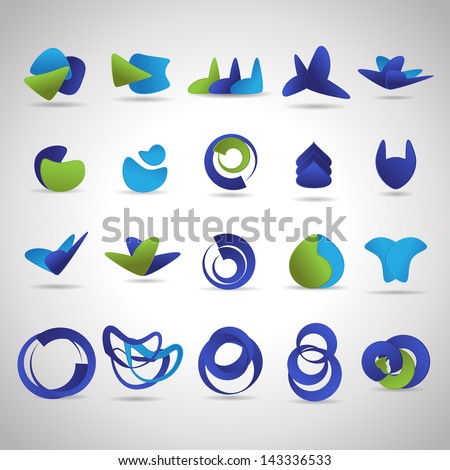 Business Icons Set - Isolated On Gray Background - Vector Illustration, Graphic Design Editable For Your Design. Business Logo  - stock vector