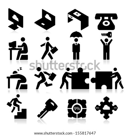 Business Icons three - stock vector