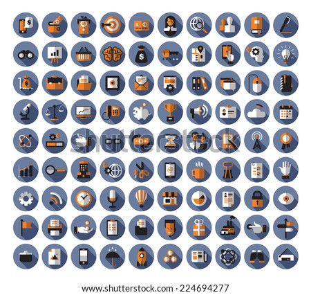 Business icons. Vector format - stock vector