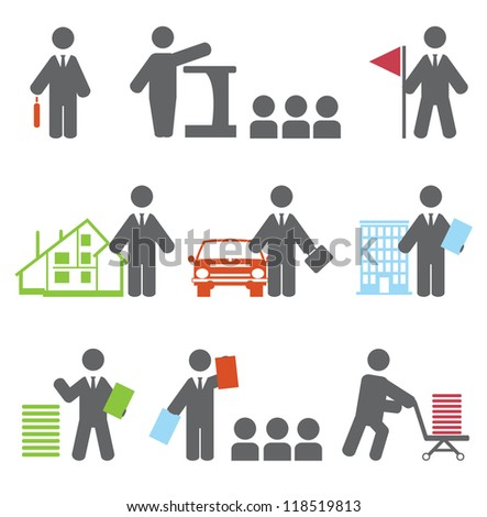 Business icons. Vector set - stock vector