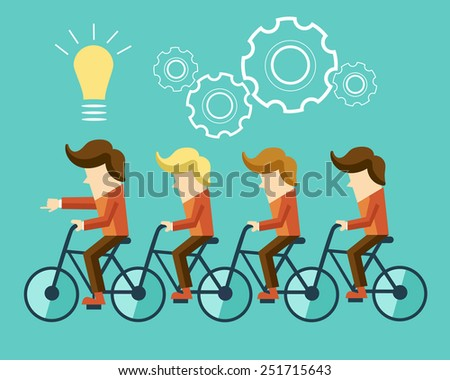 business Idea - stock vector