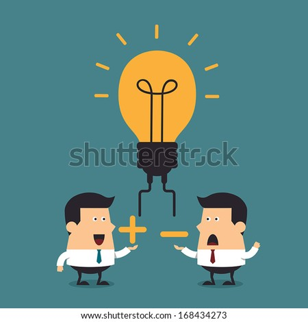 Business ideas discussion, Business concept - stock vector