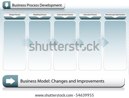 Business Improvement Chart - stock vector