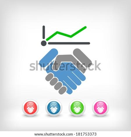 Business increase icon - stock vector