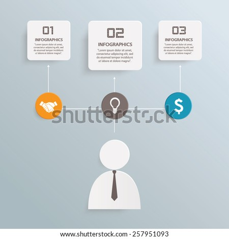 Business info graphic vector template - stock vector