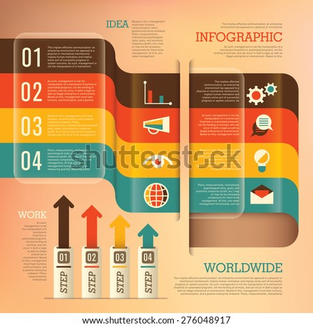 Business info graphics. Vector illustration. - stock vector