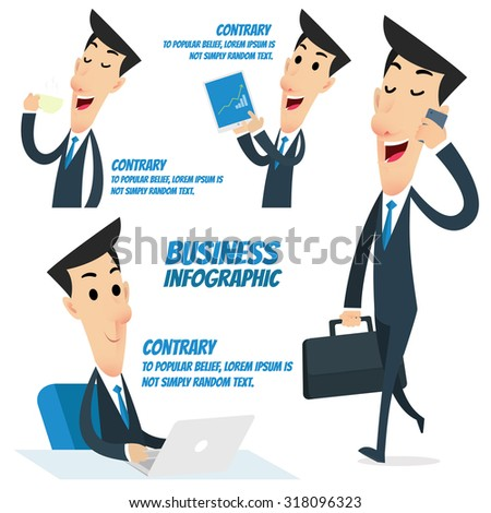 Business infographic - Business Worker - stock vector