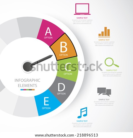 Business infographic Easy to Edit , adjust color and size.  Shadow are made with transparency set to Multiply. - stock vector