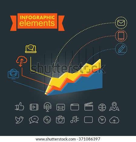 Business infographic elements illustration. Vector clip-art - stock vector
