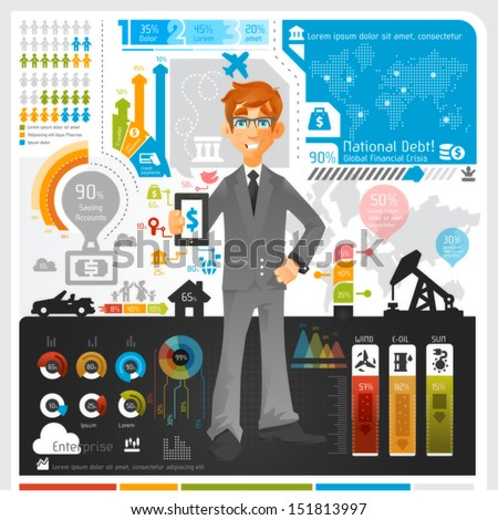 Business Infographic - eps10  - stock vector