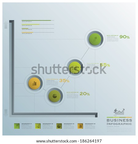 Business Infographic Graph Circle Design Template - stock vector