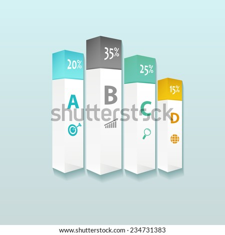 Business infographic template. Vector illustration. Can be used for workflow layout, banner, diagram, web design. - stock vector