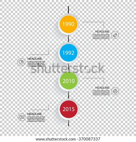 Business infographic timeline. For your presentation flyer and brochure concept, use for marketing, website, print, presentation. - stock vector