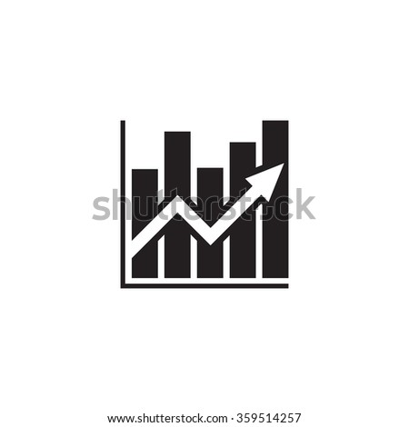 Business infographic - vector icon concept illustration. Growth graphic. Growth diagram. Graphic web icon. Business web icon. Infographic web icon. Up graphic icon. Design element.  - stock vector