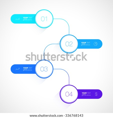 Business Infographics design vector stock eps 10 illustration. Can be used for web design and workflow layout - stock vector