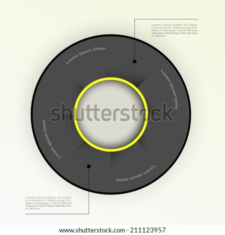 Business Infographics graph Vector.Eps 10 - stock vector