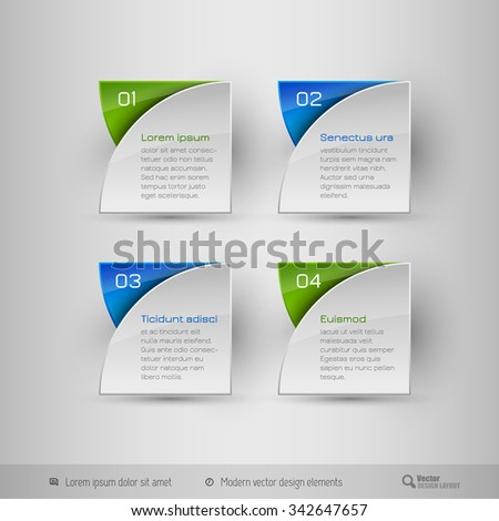 Business infographics template for websites, presentations, education, brochures and flyers. Vector design elements. - stock vector