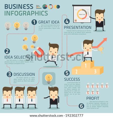 business infographics vector - stock vector