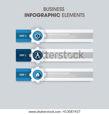 Business Infographics Vector illustration. can be used for workflow layout, banner, diagram, number options, step up options, web design. - stock vector
