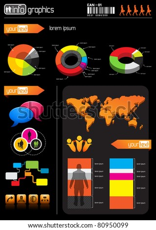 Business Information Elements - stock vector