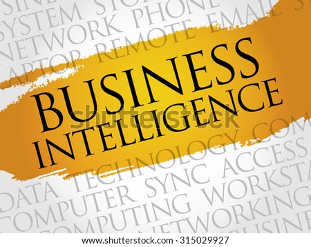 Business intelligence word cloud concept - stock vector