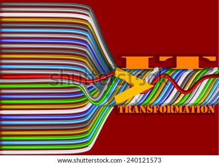 business IT transformation - stock vector