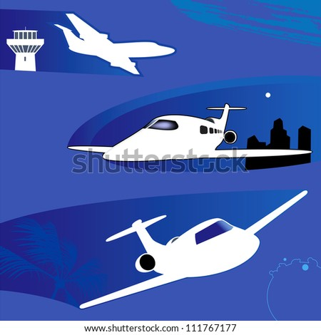 Business jets. - stock vector