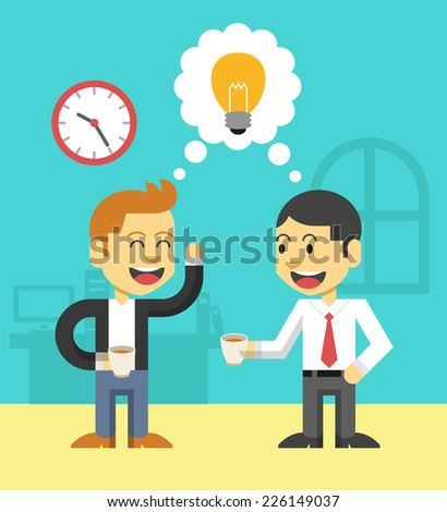 Business life. Vector flat illustration. Good idea - stock vector