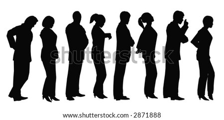business lineup - stock vector