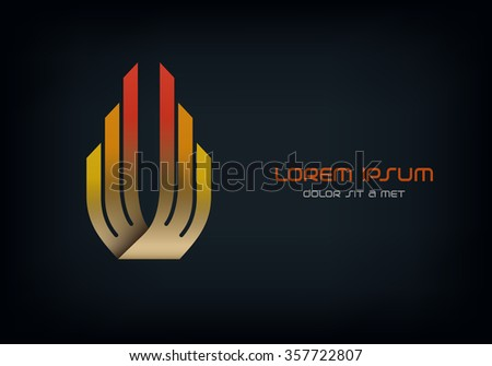 Business Logo abstract vector design template, Hi tech logotype, Corporation, Building, Aviation, Vector Eps 10 - stock vector