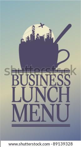Business Lunch Menu Card Design template. - stock vector