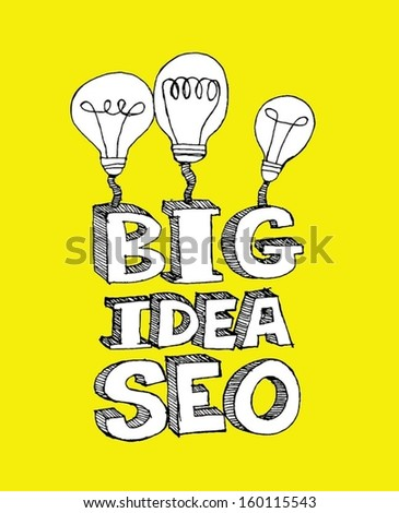 business man and Seo Idea SEO Search Engine Optimization - stock vector