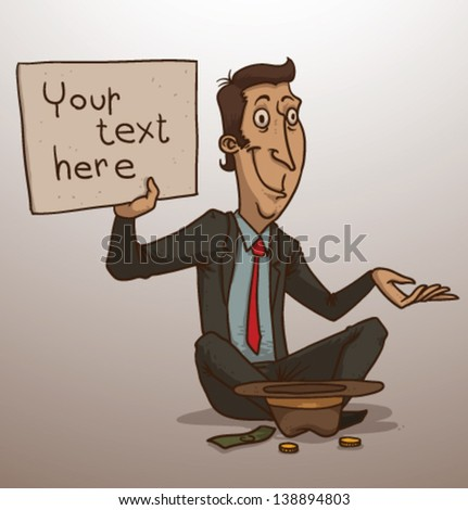 Business man are begging, vector - stock vector