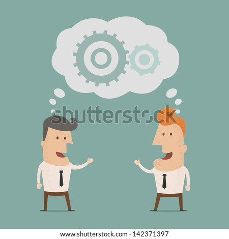 Business man  brainstorming  , eps10 vector format - stock vector