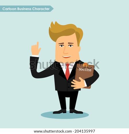 Business man cartoon character vector illustration - stock vector