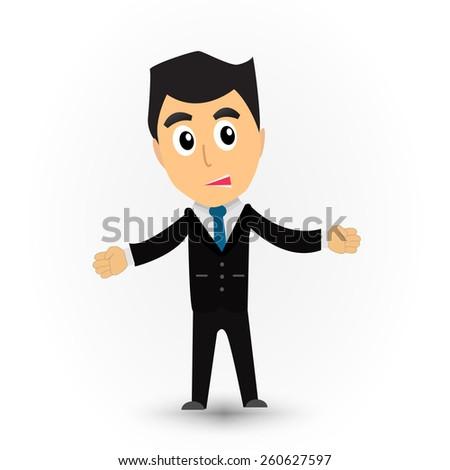 Business man cartoon vector.  - stock vector