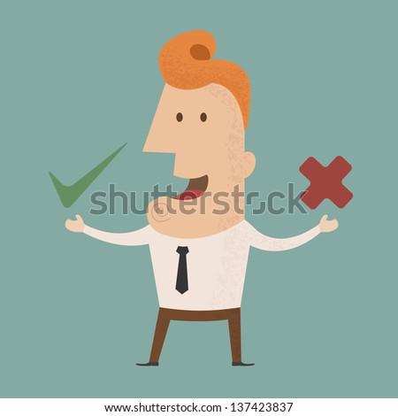 Business man check mark  , eps10 vector format - stock vector