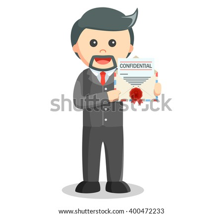 Business man confidential mail - stock vector