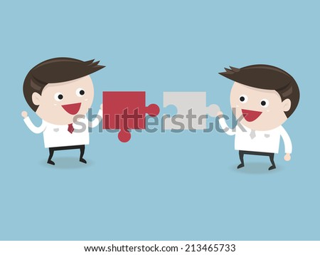 Business man connection - stock vector