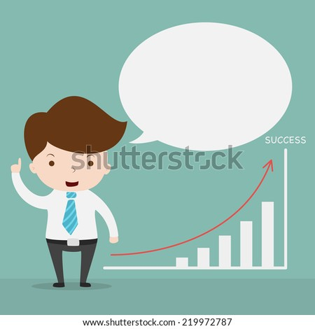 Business man drawing growth chart,Vector EPS 10. - stock vector