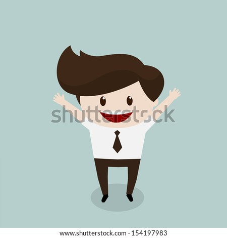 Business man - Happy - stock vector